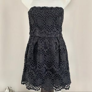 FRENCH CONNECTION, Black Lace Dress